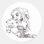 Bayou Doll Round Sticker