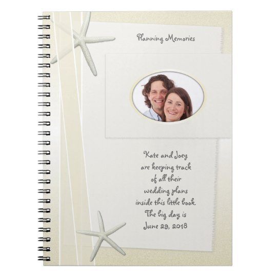 Bayside Beach Themed Wedding Planner Memory Book