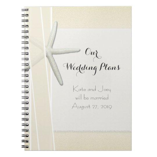 Bayside Beach Themed Wedding Planner Memory Book