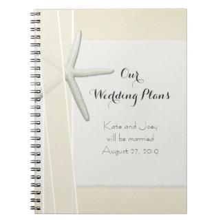 Bayside Beach Themed Wedding Planner Memory Book Spiral Note Books