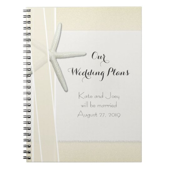 Bayside Beach Themed Wedding Planner Memory Book Spiral