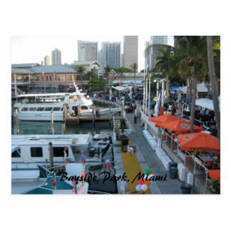 Bayside Park Miami Post Card