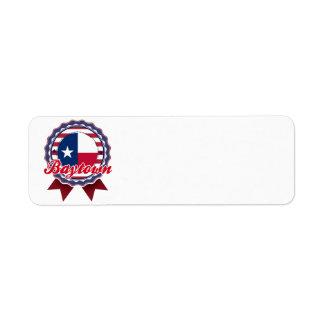 Baytown, TX Return Address Label