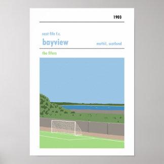 Bayview, Methil. Haynes Style Print. Poster