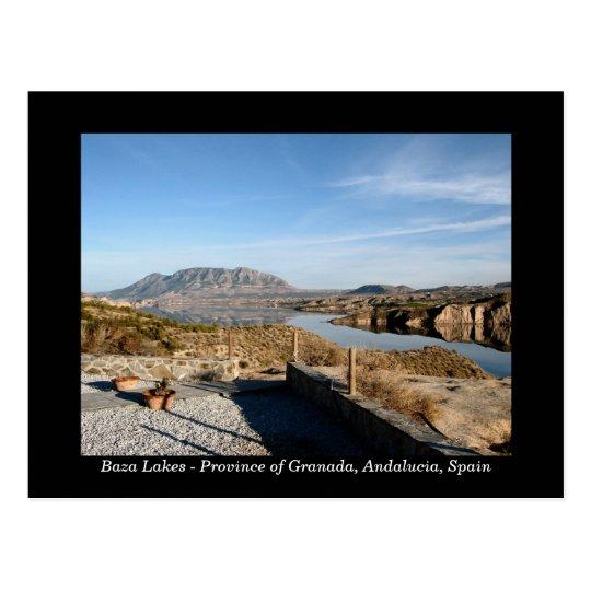 Baza Lakes, Granada Spain postcard