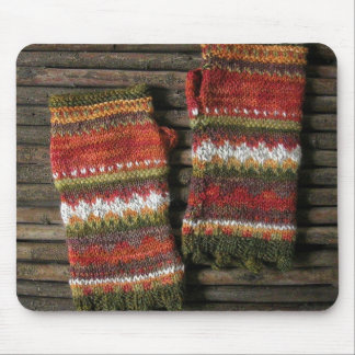 Bazaar Bayar Knitted Fingerless Gloves Mouse Pad