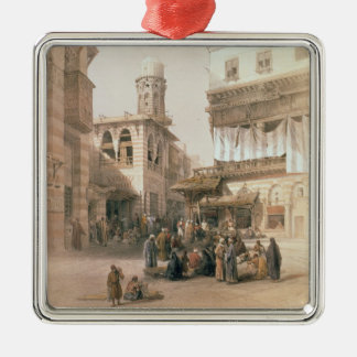"Bazaar of the Coppersmiths, Cairo, from ""Egypt and Christmas Ornament"