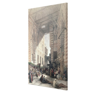 "Bazaar of the Silk Merchants, Cairo, from ""Egypt a Canvas Print"