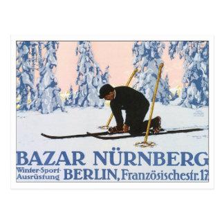 Bazar Nurnberg Berlin Vintage Travel Poster Postcard