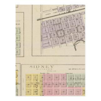 Bazine, Sidney, Nonchalanta, Harold, Kansas Postcard