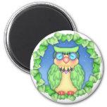 """BaZooples """"oliver"""" Owl Magnet"""