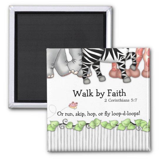 "BaZooples ""Walk by Faith"" Magnet"