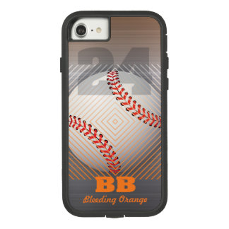 BB #24 Orange and faux brushed stainless steel Case-Mate Tough Extreme iPhone 8/7 Case