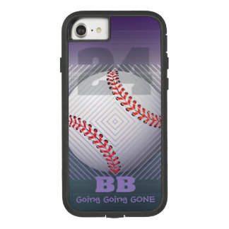 BB #24 Purple and faux brushed stainless steel Case-Mate Tough Extreme iPhone 8/7 Case