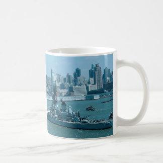 "BB-61 ""USS Iowa"", New York Harbor, U.S.A. Coffee Mug"