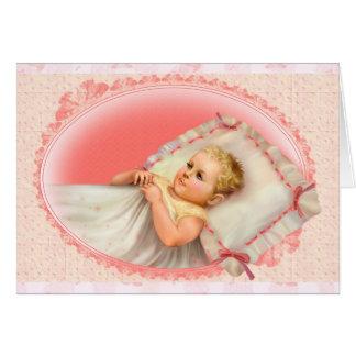 "BB BABY NEW BORN H CUTE Small (4.25"" x 5.5"") Card"