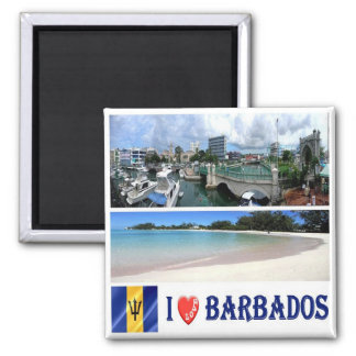 BB - Barbados - Bridgetown - Downtown  I Love Magnet