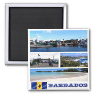 BB - Barbados - Mosaic Collage Magnet