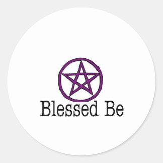 bb classic round sticker