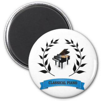 bb classical piano 6 cm round magnet