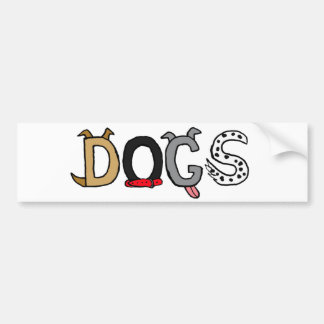 BB- Funny Dogs Letters Bumper Sticker