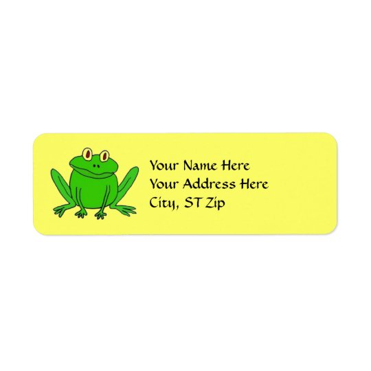 BB- Funny Frog Address Labels