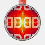BB Pattern Christmas Tree Ornament