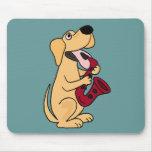 BB- Puppy Dog Playing Saxophone Cartoon Mousemat