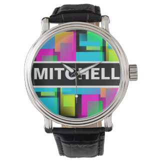 BB Rainbow Confetti Personalized Wristwatches