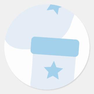 BBabyShowerP10 Round Sticker
