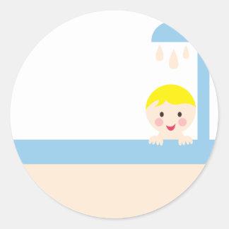 BBabyShowerP11 Round Sticker