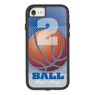 BBall #2 on blue Case-Mate Tough Extreme iPhone 8/7 Case
