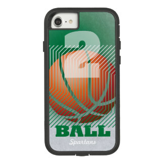 BBall #2 on green Case-Mate Tough Extreme iPhone 8/7 Case