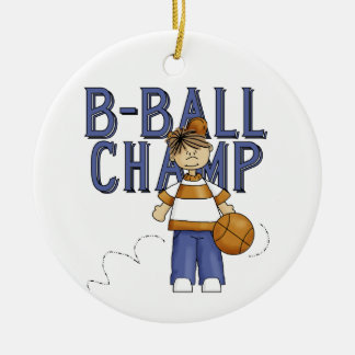 BBall Champ T-shirts and Gifts Ornaments