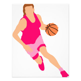 Bball girl personalized invite