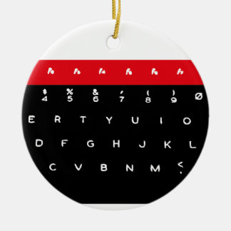 BBC Micro Keyboard Keys Round Ceramic Decoration
