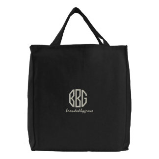 BBG On The Go Tote Embroidered Tote Bags