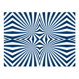 bBlue repeating hypnotic pattern Postcard