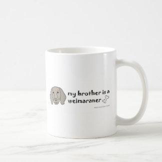 bbmc28 Weimaraner Brother - more breeds Basic White Mug