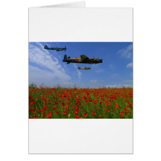 BBMF and poppies Card