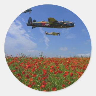 BBMF and poppies Classic Round Sticker