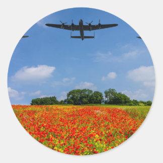 BBMF Poppy flypast Classic Round Sticker