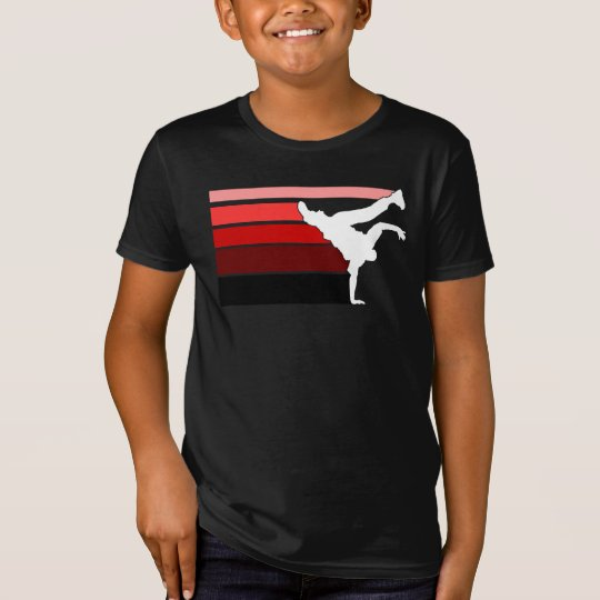 BBOY gradient red wht kids T-Shirt