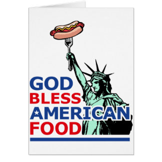 BBQ and grill idea: God Bless American Food, Card