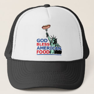 BBQ and grill idea: God Bless American Food, Trucker Hat