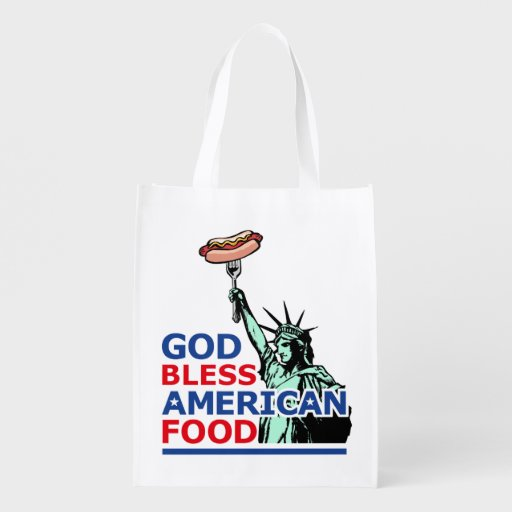BBQ and grill idea: God Bless American Food, Grocery Bags