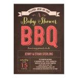 BBQ Baby Shower Invitation - Pink