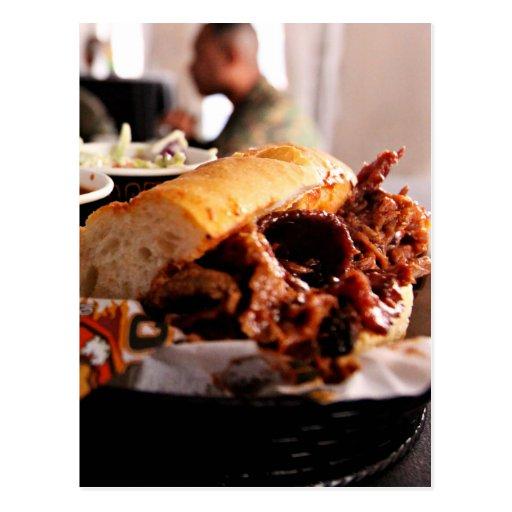 BBQ Beef Brisket Sandwich Post Card