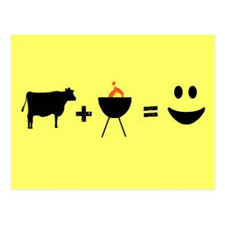 BBQ Beef Happy Postcard