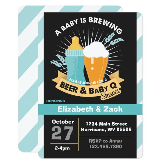 BBQ beer Baby Shower Invitation